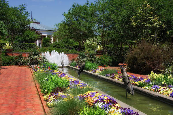 Photograph - Canal Garden And Water Fountain by Jill Lang
