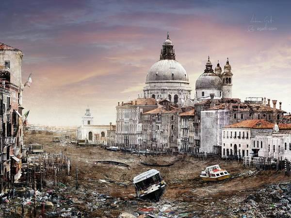 Famous People Digital Art - Canal Grande by Andrea Gatti