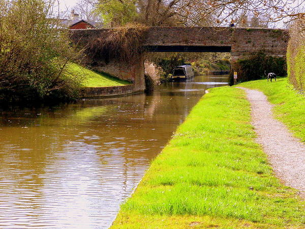 Wall Art - Photograph - Canal In Oxford England by Mindy Newman