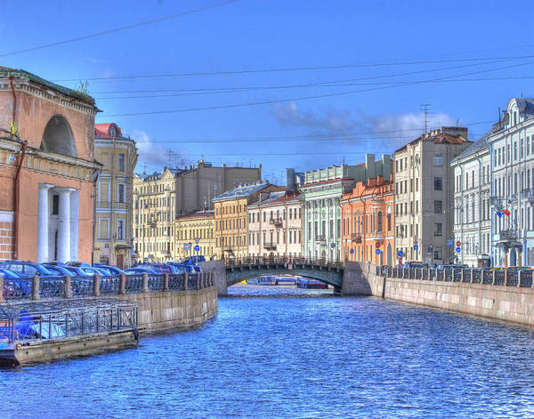 Canal In St. Petersburgh Russia Art Print