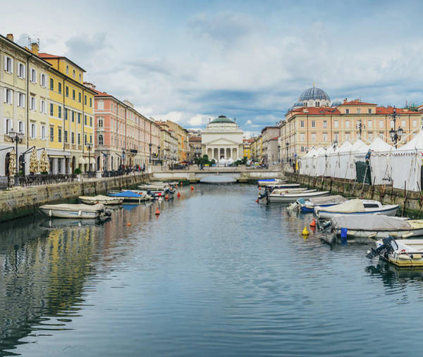 Photograph - Canal In Trieste, Italy by Alexandre Rotenberg