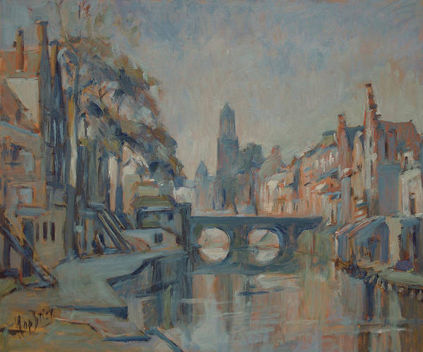 Wall Art - Painting - Canal In Utrecht by Nop Briex