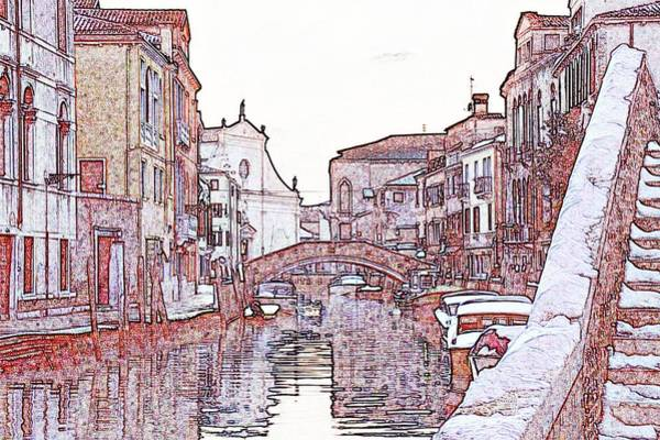 Wall Art - Photograph - Canal In Venice With Church Of San Raphael And Snow by Michael Henderson