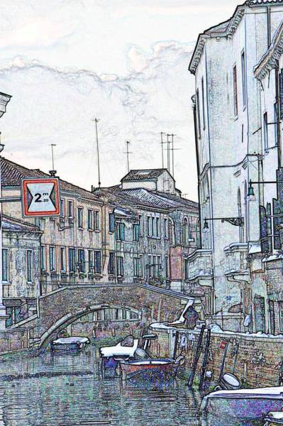Wall Art - Photograph - Canal In Venice With Snow by Michael Henderson