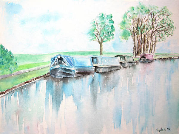 Painting - Canal Journey by Elizabeth Lock