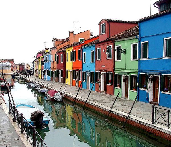 Wall Art - Photograph - Canal On The Italian Island Of Burano Near Venice by Mindy Newman