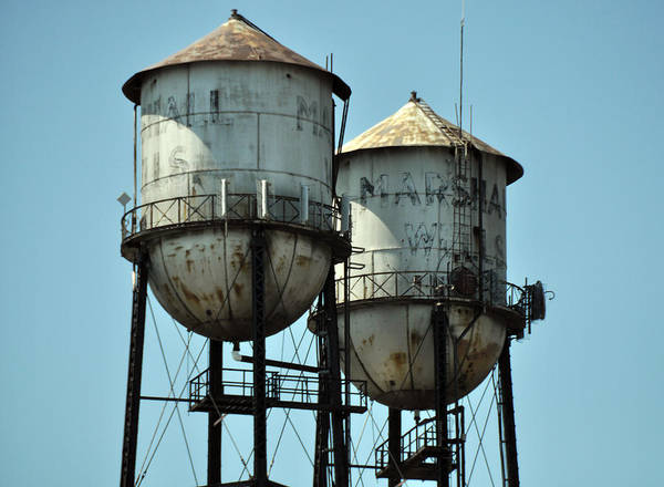 Wall Art - Photograph - Canal Park Water Towers by John Ricker