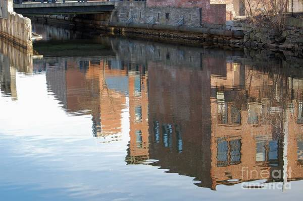 Photograph - Canal Reflection by Mary McAvoy