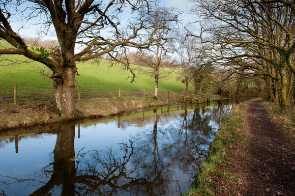 Photograph - Canal Reflections by Helen Northcott