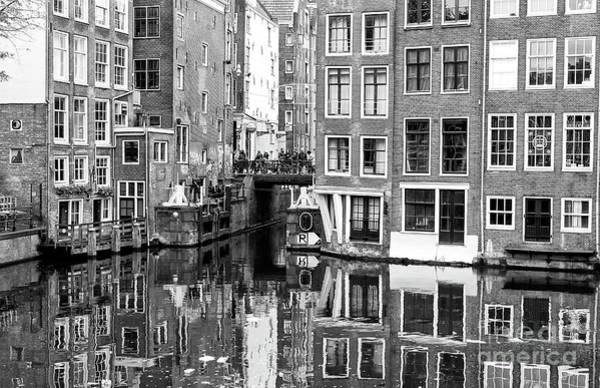 Photograph - Canal Reflections In The Red Light District by John Rizzuto