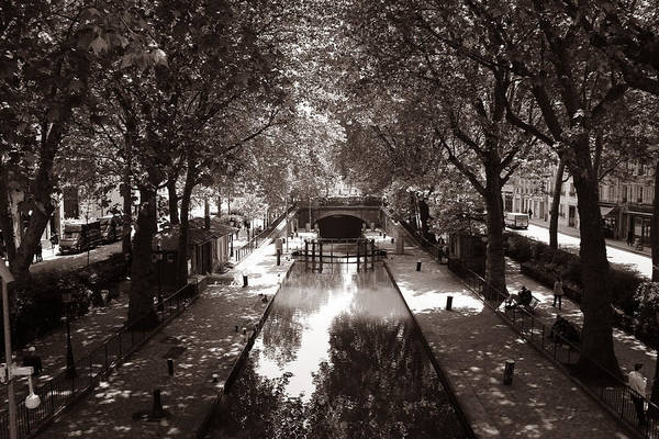 Photograph - Canal Saint Martin 2 by Andrew Fare