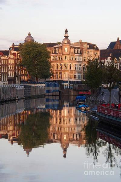 Wall Art - Photograph - Canal Singel In Amsterdam. Netherlands. Europe by Bernard Jaubert