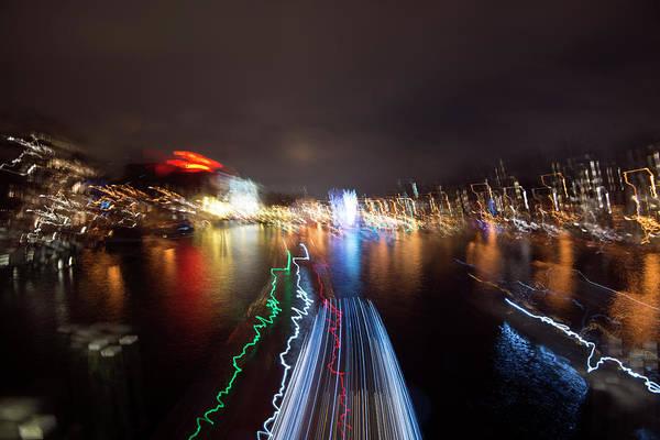 Photograph - Canal Streaking Abstract by Matt Swinden