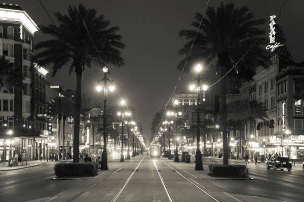 Wall Art - Photograph - Canal Street In Black And White by Art Spectrum