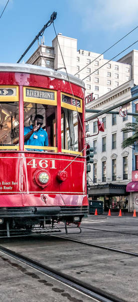 Photograph - Canal Street Streetcar Triptych-middle by Andy Crawford