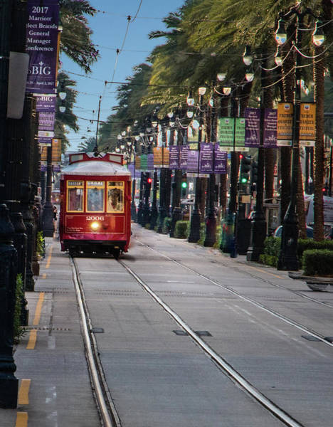 Photograph - Canal Street Trolly by James Woody