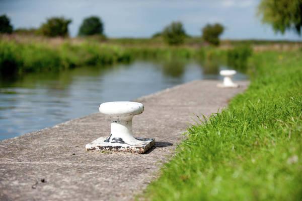 Photograph - Canal Towpath Bollard by Helen Northcott