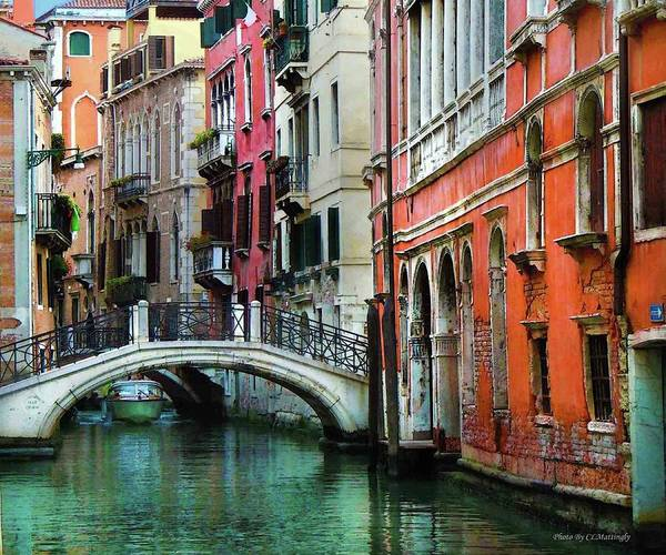 Photograph - Venice Canal With Bridge by Coleman Mattingly