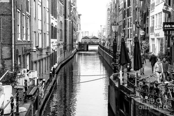 Photograph - Canal Walk In Amsterdam by John Rizzuto