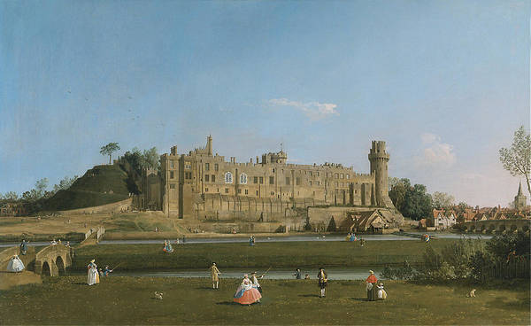 Wall Art - Painting - Canaletto Warwick by Granger