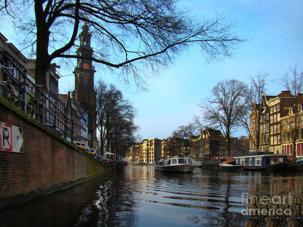 Houseboat Photograph - Canals Of Amsterdam IIi by Al Bourassa