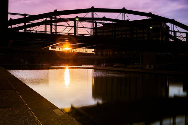 Photograph - Canalside Dawn No 2 by Chris Bordeleau