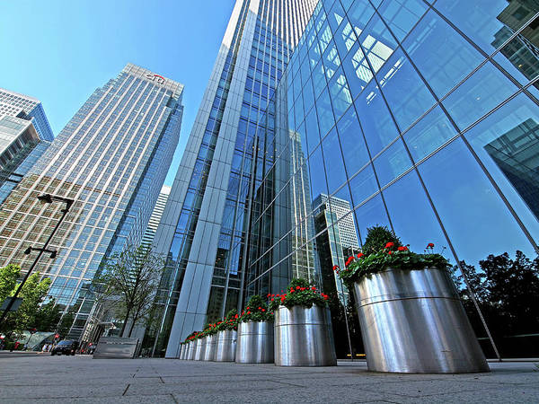 Photograph - Canary Wharf Financial District Reflections London by Gill Billington