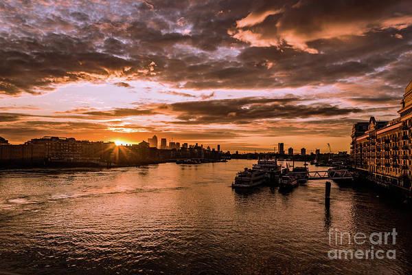 Photograph - London Sunrise. by Nigel Dudson