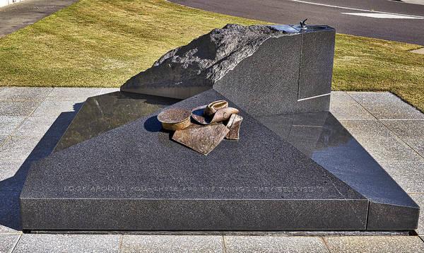 Photograph - Canberra Veterans Statue by Steven Ralser