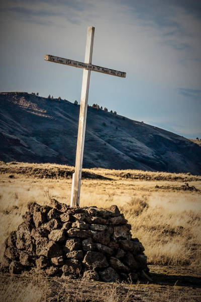 Historical Marker Photograph - Canby's Cross by Marnie Patchett