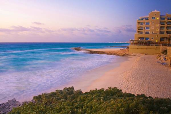 Photograph - Cancun Beach At Sunrise by Tatiana Travelways