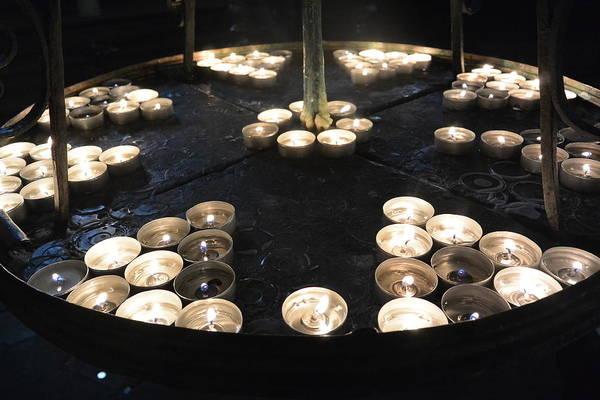 Charnel Photograph - Candelight Vigil by Two Small Potatoes