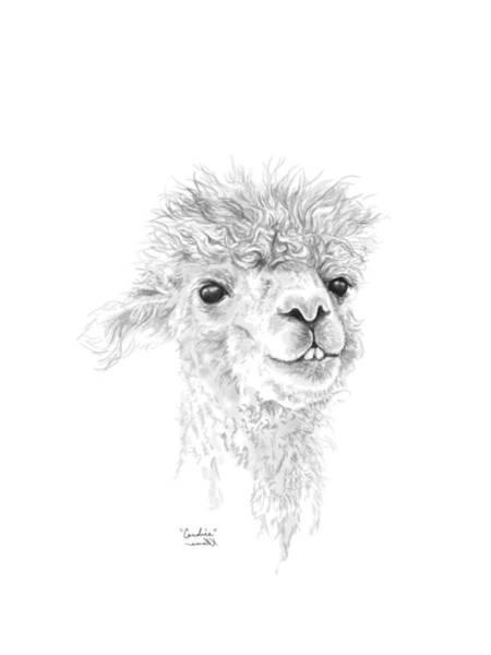 Llama Drawing - Candice by K Llamas