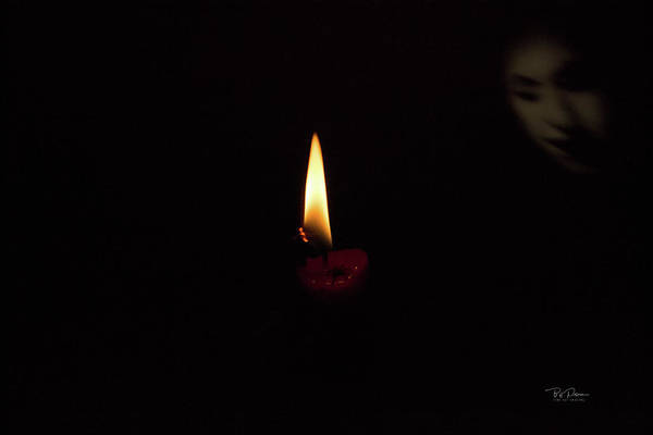 Photograph - Candle Face With Spider by Bill Posner