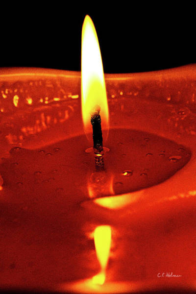 Photograph - Candle Flame by Christopher Holmes
