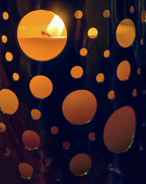 Burnt Orange Photograph - Candle Holder by Carlos Caetano