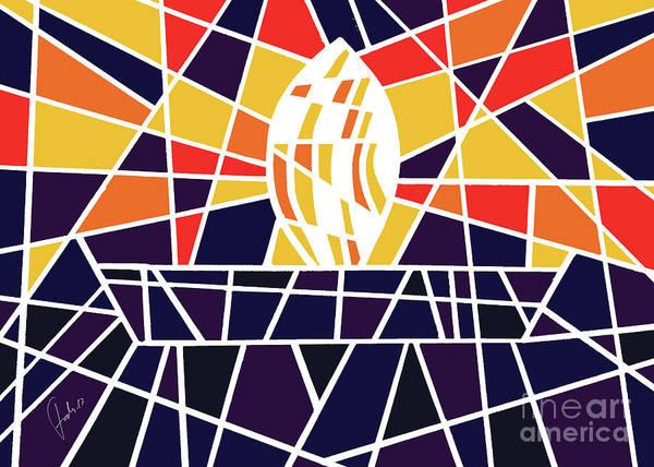 Vitrage Wall Art - Digital Art - Candle In The Dark by Fady Dow