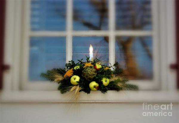 Photograph - Candle In The Window by Patti Whitten