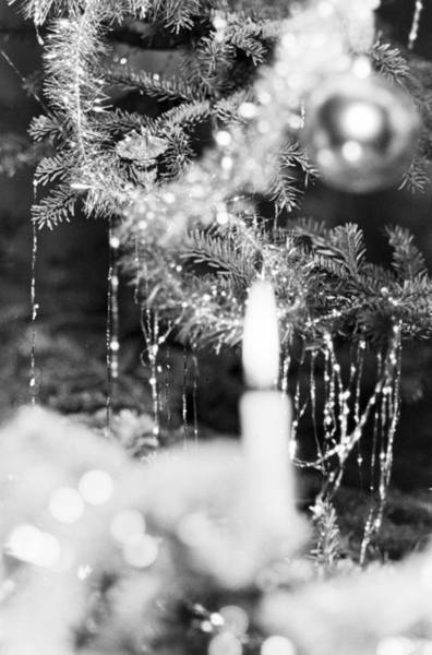 Bauble Wall Art - Photograph - Candle On A Christmas Tree by German School