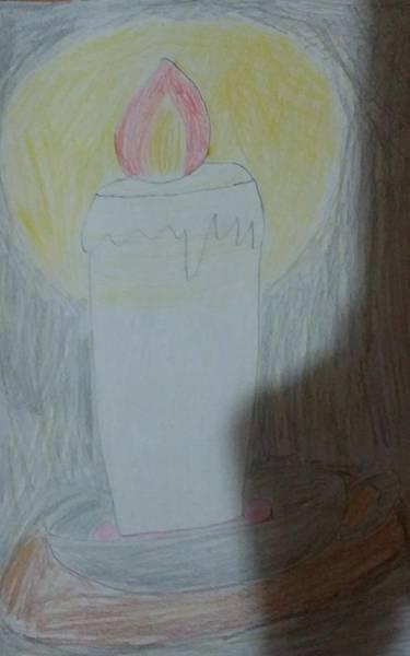 Drawing - Candle by Sari Kurazusi