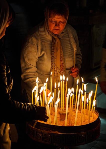 Church Of The Holy Sepulcher Photograph - Candlelight by Dvir  Barkay
