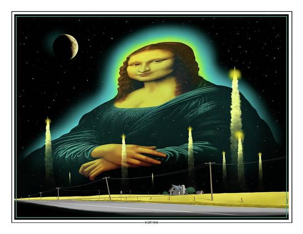 Digital Art - Candles For Mona by Scott Ross