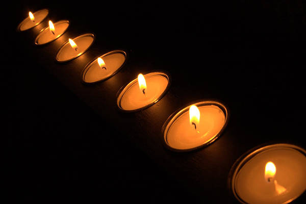 Photograph - Candles In A Row by Alexander Fedin