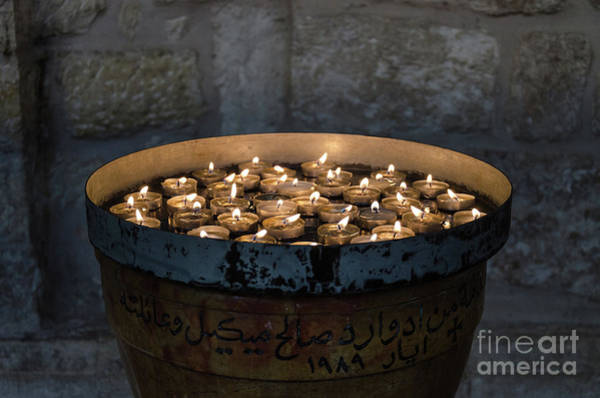 Photograph - Candles In The Church Of Nativity, Bethlehem by Perry Rodriguez