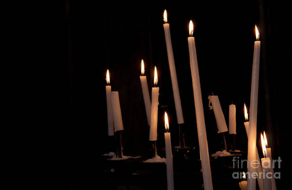 Taper Photograph - Candles by Ivy Ho