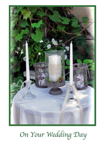 Photograph - Candles Wedding Day Greeting Card by Ginger Wakem