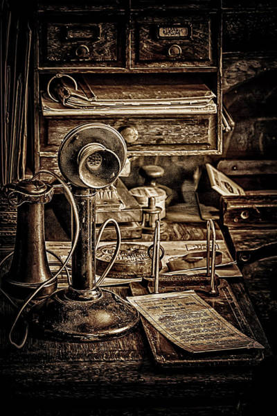 Photograph - Candlestick Telephone by Susan Rissi Tregoning