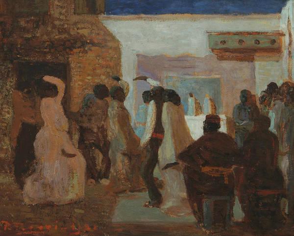 Painting - Candombe O Candombe Bajo La Luna by Pedro Figari
