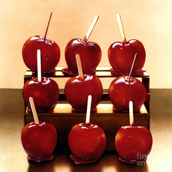 Red Apples Painting - Candy Apples by Lawrence Preston