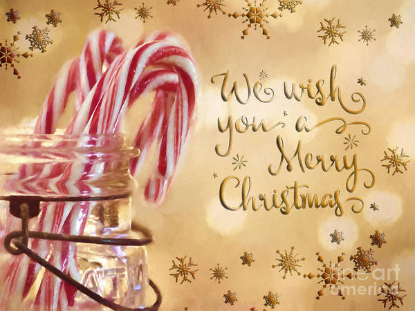 Photograph - Candy Cane Wishes by Pam  Holdsworth